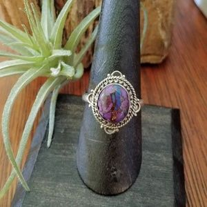 Jewelry - Exotic Purple Copper Turquoise Ring